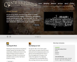 preview of Country Bible Church website