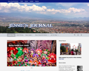 preview of Jessie's Journal website