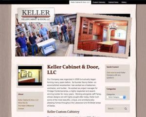 preview of Keller Cabinet & Door website