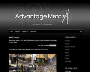 preview of Advantage Metals website