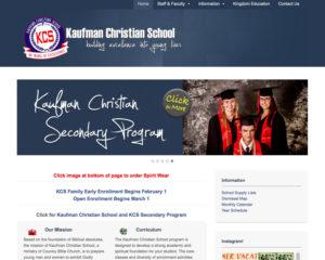 preview of Kaufman Christian School website